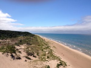 View from the top of Little Sable Point Lighthouse
